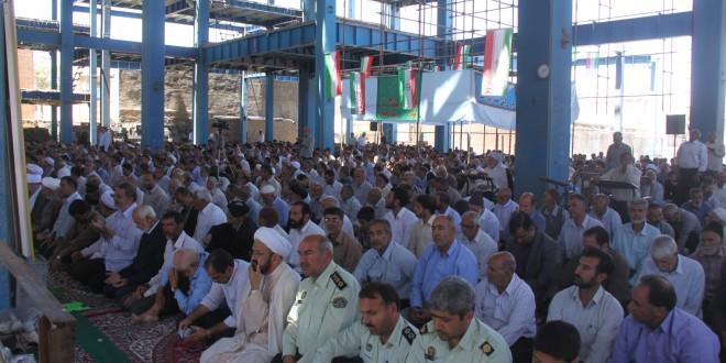 برگزاری اولین نماز جمعه ماه مبارک رمضان۹۳ در قسمت جدید مصلای گناباد