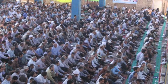 برگزاری چهارمین نماز جمعه ماه مبارک رمضان ۹۳ در قسمت توسعه مصلای گناباد هم زمان با روز قدس