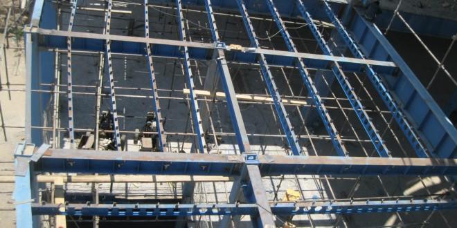 ادامه ساخت سقف طبقه اول (ضلع شمال)
