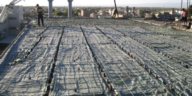 ادامه ساخت سقف طبقه دوم (ظلع شمال)