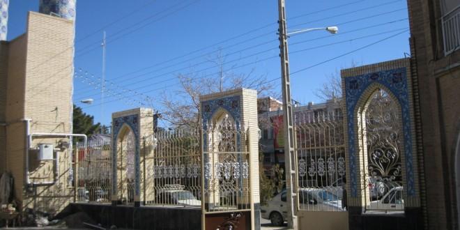 اجرای دیوار جلو مصلی قدیم