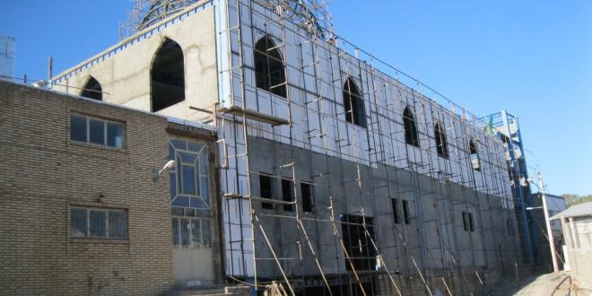 اجرای دیوار تریدی پانل ضلع شمال وشرق